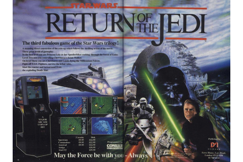 "1988 Star Wars ""Return of the Jedi"" Arcade Game Ad"
