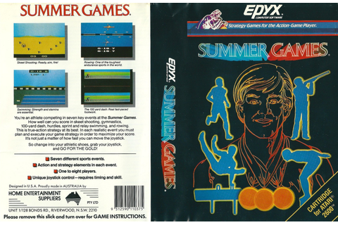 Atari 2600 VCS Summer Games : scans, dump, download ...