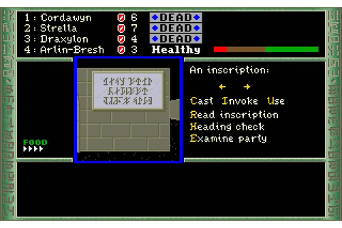 Download The Dark Heart of Uukrul rpg for DOS (1989 ...