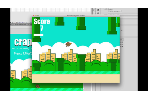 Flappy bird game made in Flash AS2 - TUTORIALS NOW LIVE ...
