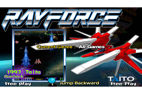 Gunlock Rayforce Hyperspin mame game themes - YouTube