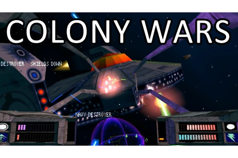 Colony Wars gameplay - Moving the Strike Cannons - YouTube