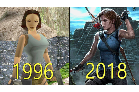 Evolution of Tomb Raider Games 1996-2018 - YouTube
