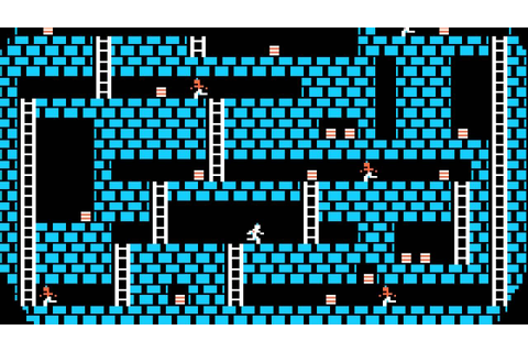 Apple II Game: Lode Runner (1983 Brøderbund Software ...