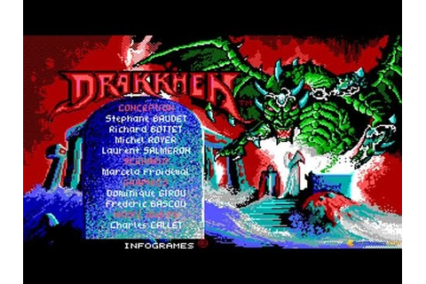Drakkhen gameplay (PC Game, 1989) - YouTube