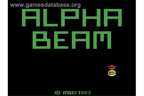 Alpha Beam with Ernie - Atari 2600 - Games Database