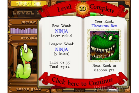 BookWorm Deluxe. Download and Play BookWorm Deluxe Game ...