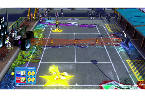 SEGA Superstars Tennis: Tails vs Beat {Jet Set Radio Court ...