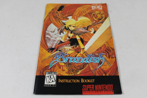 Manual - Brandish - Snes Super Nintendo