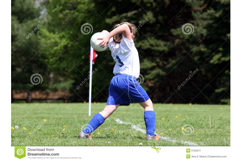 Teen Throwing Soccer Ball Stock Image - Image: 5155011