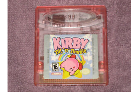 Kirby Tilt 'n' Tumble Nintendo Gameboy Color Video Game | eBay