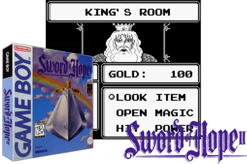 THE SWORD OF HOPE II [USA] - (Game Boy) - BoutiqueDuGeek.fr