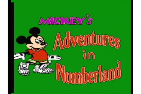 Retro Game Guide - NES - Mickey's Adventures in Numberland