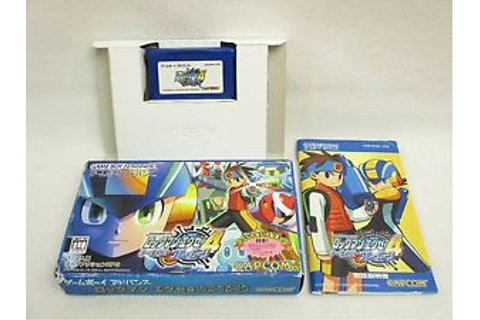 ROCKMAN EXE 4 TOURNAMENT BLUE No Battle Chip /bcc Game Boy ...
