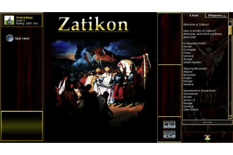 Armies of Zatikon TCG and Chess - Start Screen - AndroidTapp