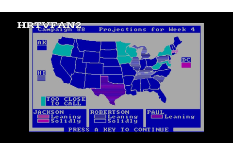 President Elect Game Results (1988: Battle of the Revs ...