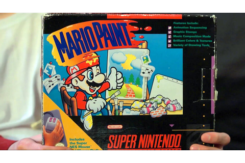 Mario Paint (SNES Video Game) James & Mike - YouTube