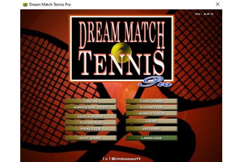 Dream Match Tennis Pro 2.37 - Download for PC Free