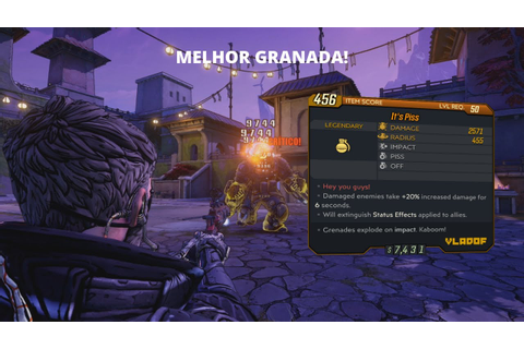 BORDERLANDS 3 - A MELHOR GRANADA DO GAME!? - YouTube
