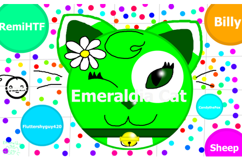 Emeraldia the Cat plays Agar.io — Weasyl