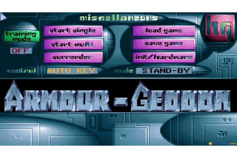 Armour-Geddon gameplay (PC Game, 1991) - YouTube