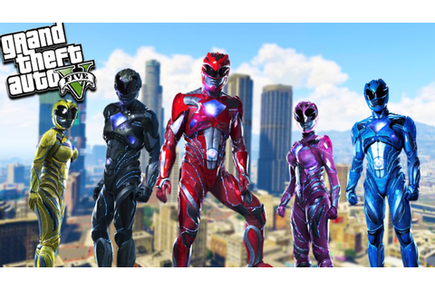 GTA 5 Power Rangers Mod! Epic Fighting & Super Powers ...