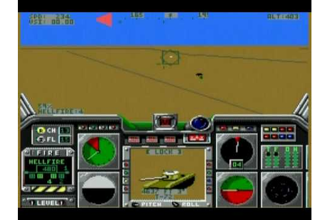 LHX Attack Chopper - Mega Drive - Demo & Gameplay - YouTube