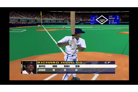VR Baseball 99 (video 1) (Playstation 1) - YouTube