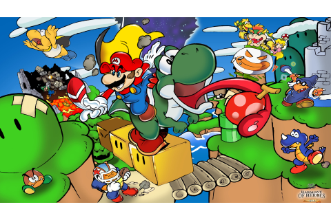 Super Mario World Illustration by Joel Sousa