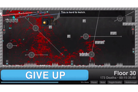 Give Up, An Insanely Difficult Flash Video Game About ...