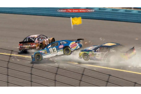 NASCAR 14 The Game Crash Compilation - YouTube
