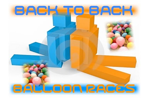 BACK TO BACK BALLOON RACE - YouTube