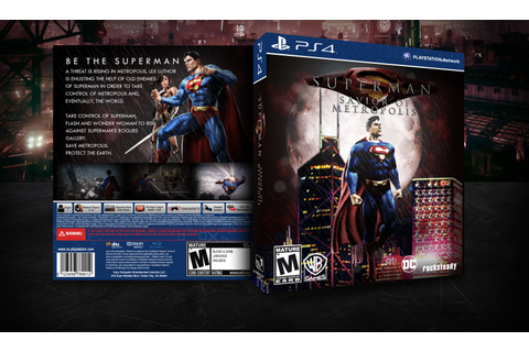 I made a boxart for a Superman game in the Arkhamverse ...