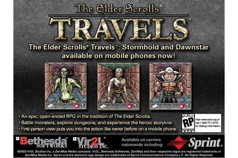 The Elder Scrolls Travels - An Early Example of Mobile ...