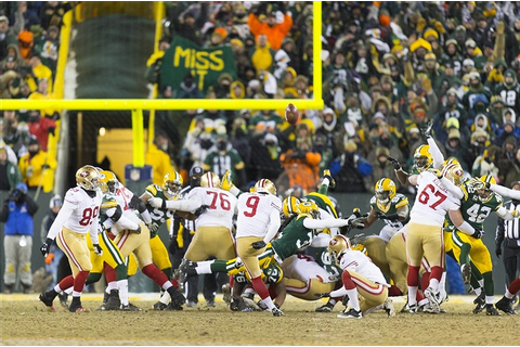 49ers game winning field goal went through Packers player ...