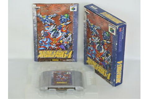 SUPER ROBOT WARS 64 ref/bcb Nintendo 64 Japan Game n6 ...