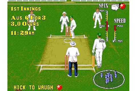 Brian Lara Cricket - Sega Genesis - Game Play with ...