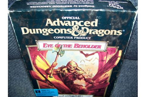 SSI Adv Dungeons & Dragons Eye of the Beholder DOS PC 5.25 ...
