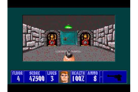 Let's Play DOS Games- Wolfenstein 3D - Episode 4- The show ...