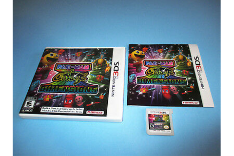 Pac-Man & Galaga Dimensions Pacman (Nintendo 3DS) XL 2DS ...