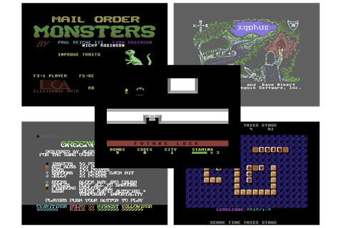 C64 Game: Future Lock +5 / Mail Order Monsters +7DF (EF ...
