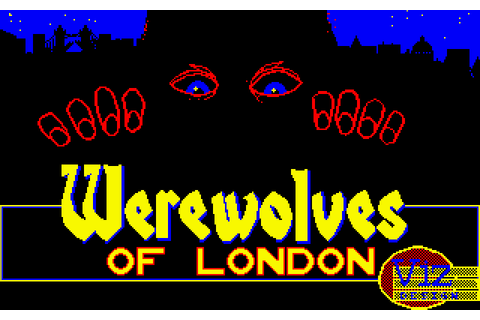 Werewolves of London (1987) by Viz Design Amstrad CPC game