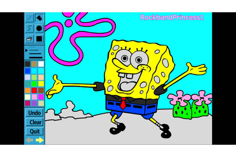 Spongebob Paint and Color Games Online - Spongebob ...