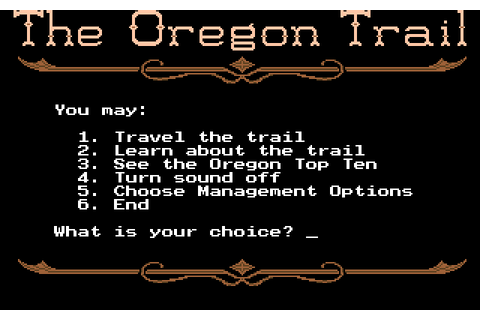 Super Adventures in Gaming: The Oregon Trail (MS-DOS)