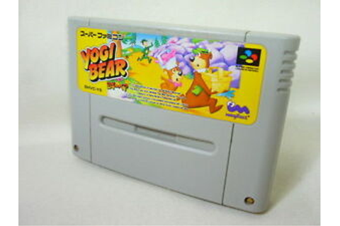 Super Famicom YOGI BEAR Video Game Nintendo Cartridge Only sfc