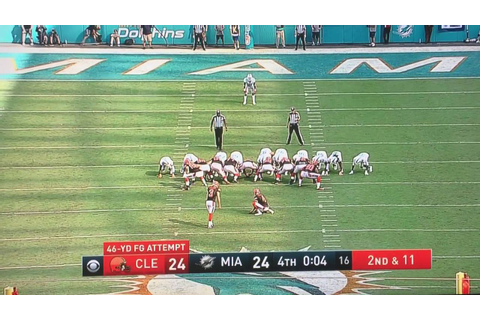 Cleveland Browns miss game winning field goal against the ...