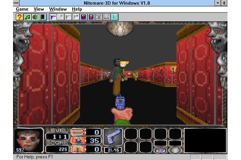 Nitemare-3D for Windows (1994) by Gray Design Win3.1 game