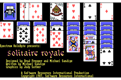 Solitaire Royale (1987) by Spectrum Holobyte MS-DOS game