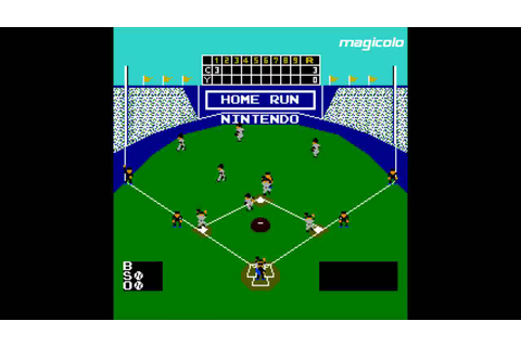 Baseball - NES 1983 Nintendo Gameplay by Magicolo - YouTube