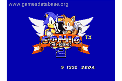 Sonic The Hedgehog 2 - Sega Game Gear - Games Database